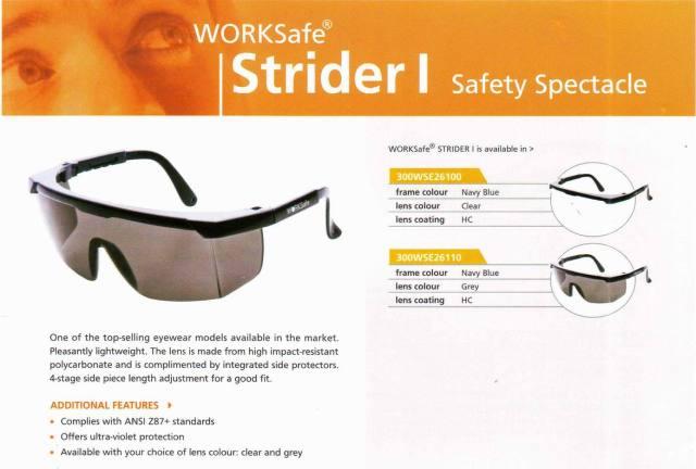 ESTRIDER_WORKSAFE kacamata safety standar international, harga Rp 100.000,-