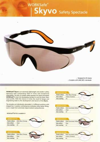 SKYVO_WORKSAFE kacamata safety standar international Rp 130.000,-