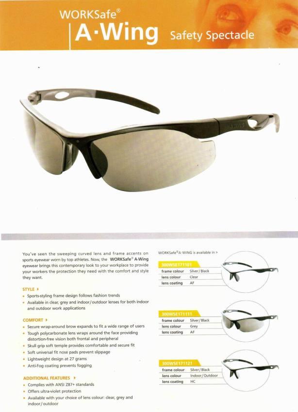 AWING_WORKSAFE kacamata safety standar international, harga Rp 100.000,-