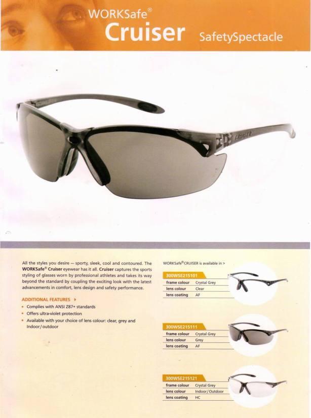 CRUISER_WORKSAFE kacamata safety standar international, harga Rp 100.000,-