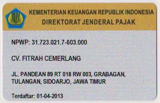 NPWP CV. Fitrah Cemerlang 2 001